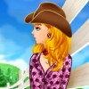 La cowboy-girl et son cheval