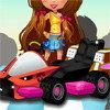 Les filles qui font du karting