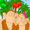 Des singes qui s'embrassent