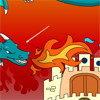 Coloriage du dragon et son château