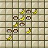 Le jeu de morpion du singe avec des bananes à bien placer