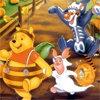 Puzzle avec Winnie l'Ourson, le petit ours qui raffole du miel